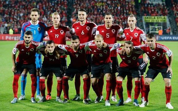 team photo for Shqipëri