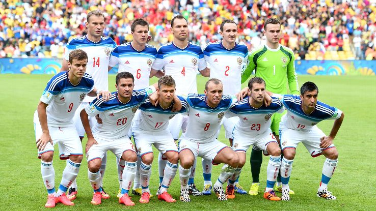 team photo for Rusia